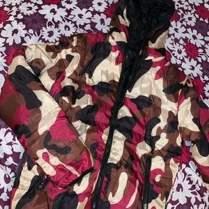 Warm camouflage puffer coat 💗